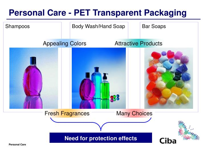 Personal Care - PET Transparent Packaging