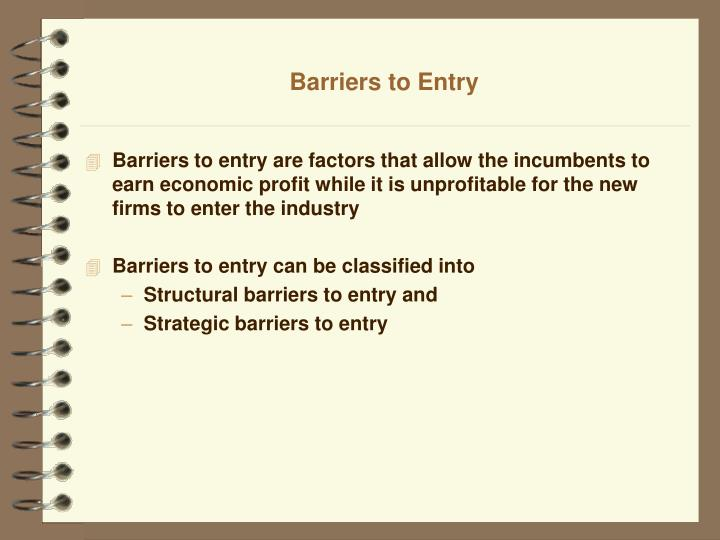 barriers to entry the uk supermarket industry Barriers to entry supermarkets how barriers to entry may affect market structure in some market it is easier to enter than in others the uk supermarket industry.