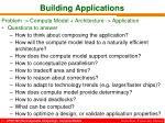 building applications