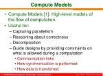 compute models