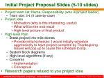initial project proposal slides 5 10 slides