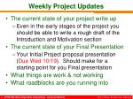 weekly project updates