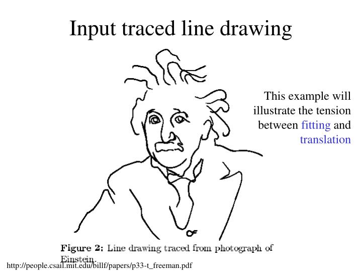 Input traced line drawing