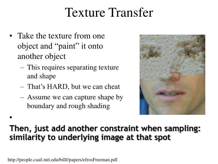 Texture Transfer
