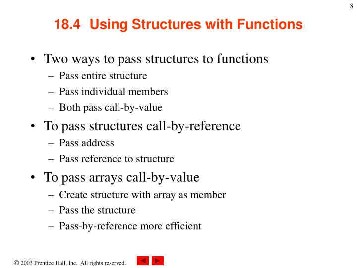 18.4  Using Structures with Functions