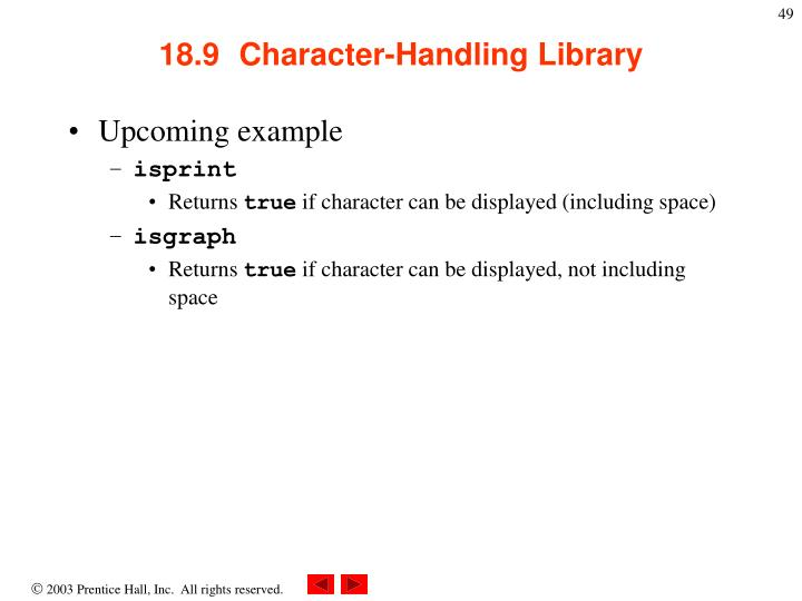 18.9  Character-Handling Library