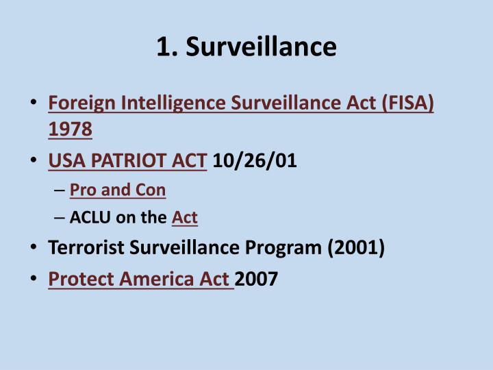 1. Surveillance