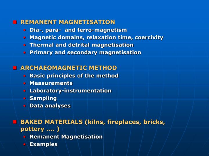 Archaeomagnetic dating ppt file