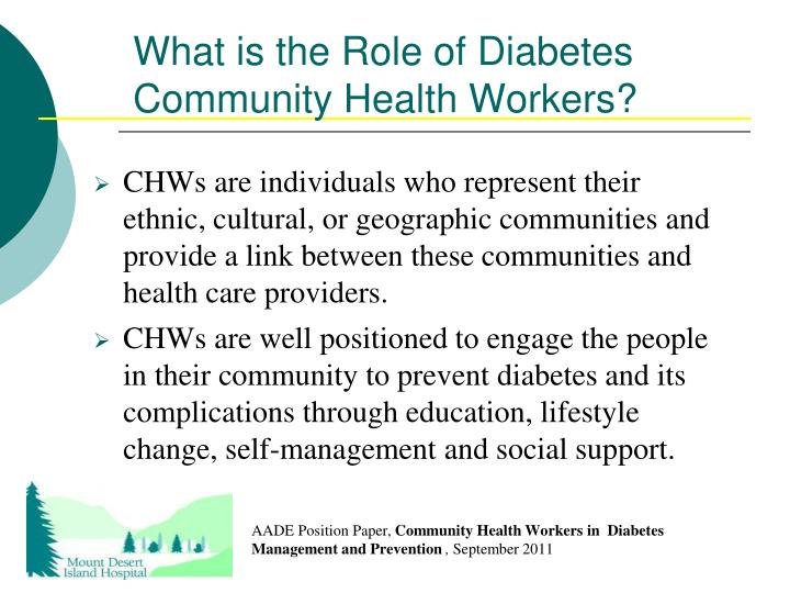 What is the Role of Diabetes Community Health Workers?