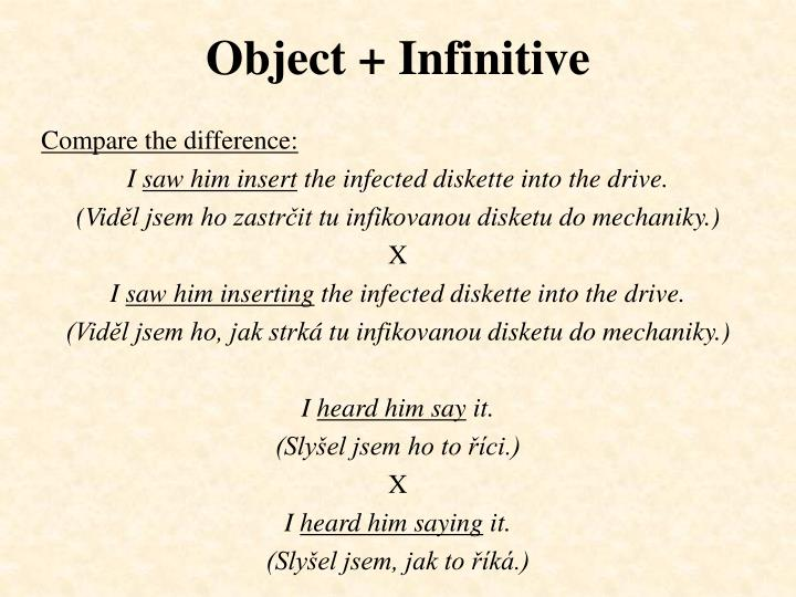 Object infinitive1