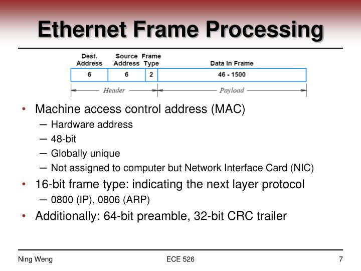 Ethernet Frame Processing