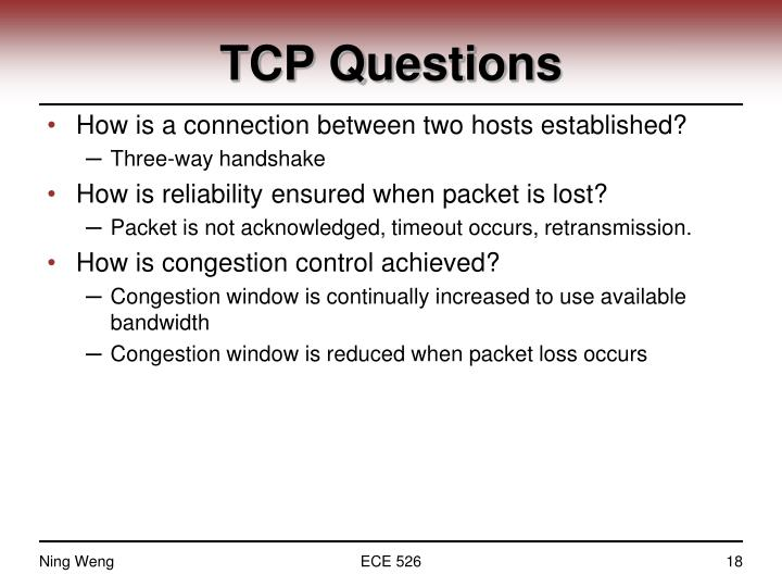 TCP Questions