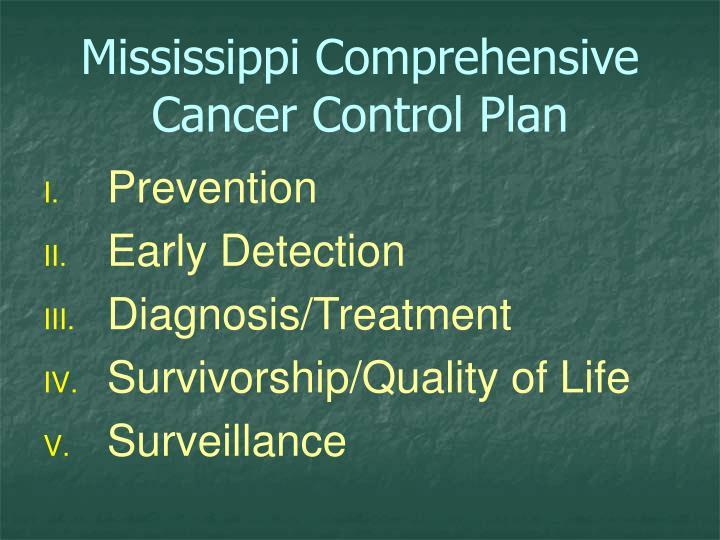Mississippi Comprehensive Cancer Control Plan