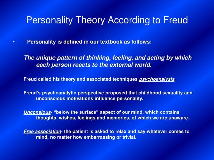 sigmund freud three basic elements of personality