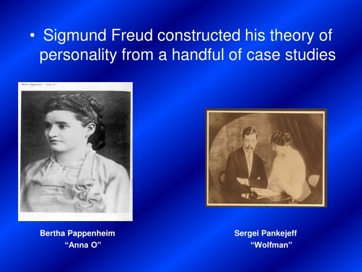 sigmund freud and the basic foundation of a persons personality Psychoanalysis is one of the therapeutic techniques used by psychotherapists to evaluate and treat a patient's behavioral disturbances the core theories of psychoanalysis are credited to the austrian psychiatrist sigmund freud.