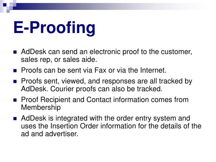 E-Proofing