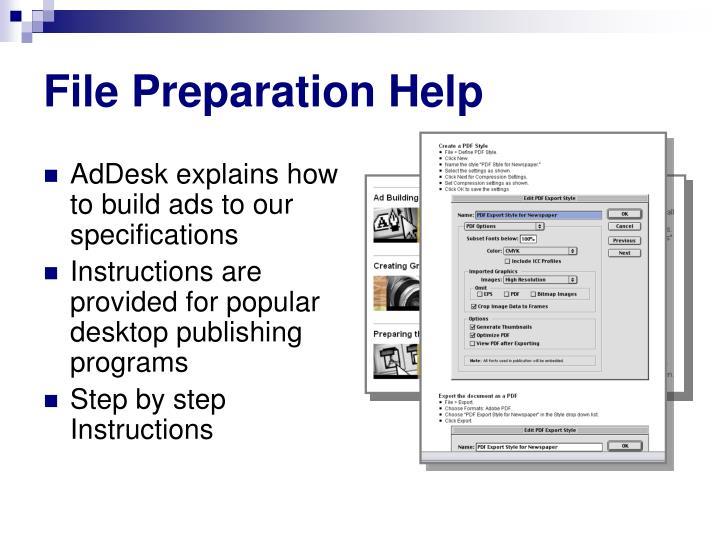 File Preparation Help