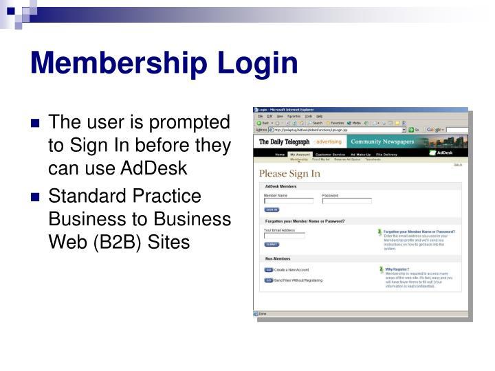 Membership Login