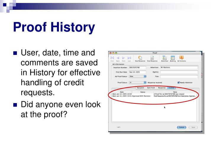 Proof History
