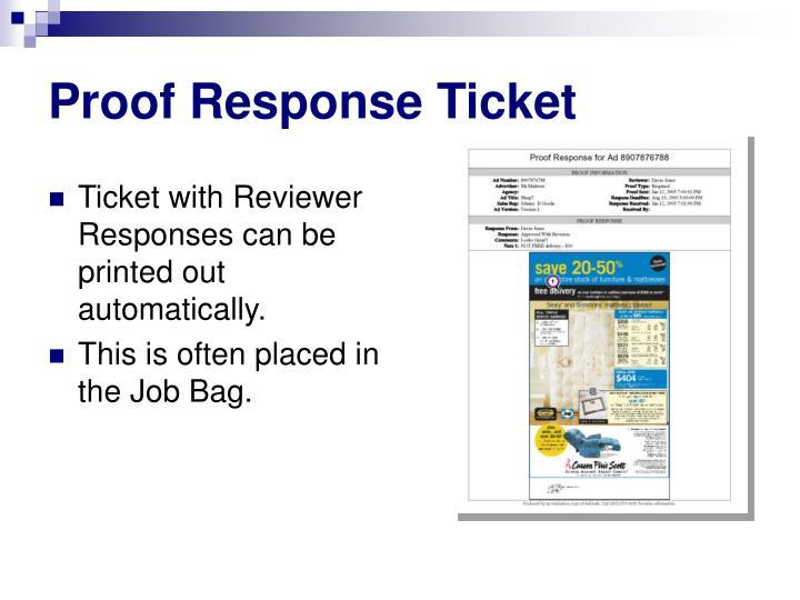 Proof Response Ticket
