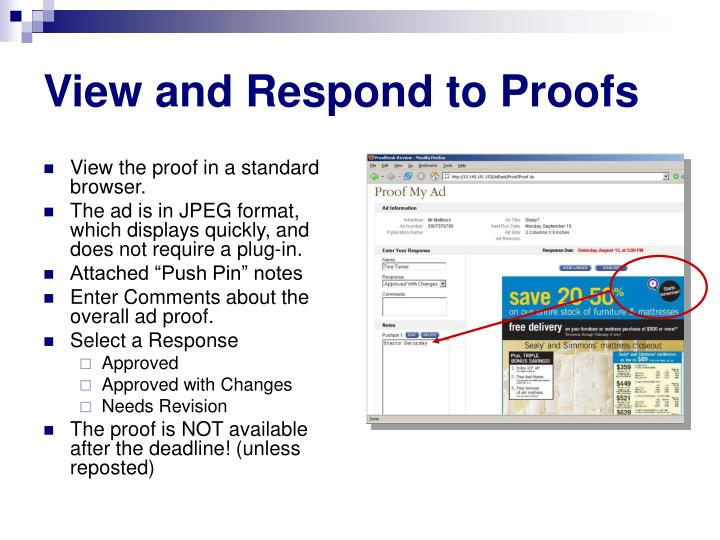 View and Respond to Proofs