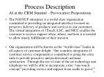process description ai at the crm summit provocative propositions
