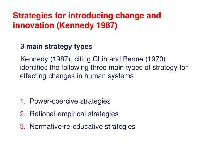 the normative re educative strategy essay