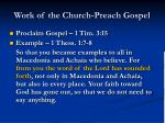 work of the church preach gospel2
