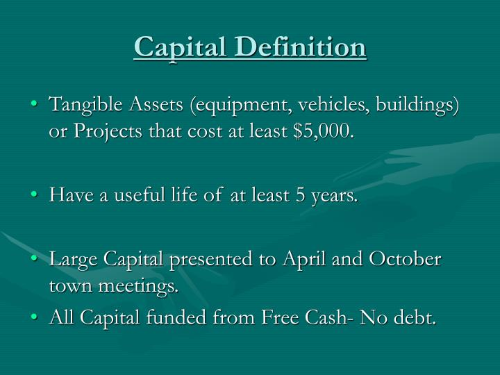 a capital improvement betty essay Below is an essay on capital from anti essays, your source for research papers, essays, and term paper examples  step 1: acquisition cost + capital improvements.