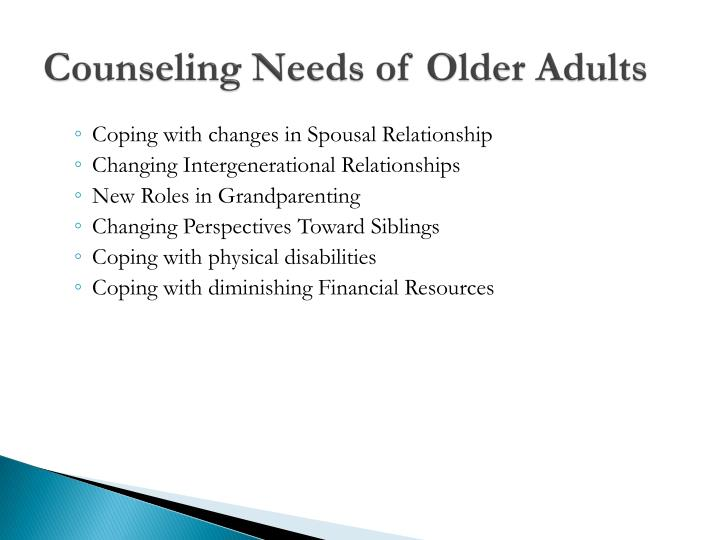 Counseling older adults really