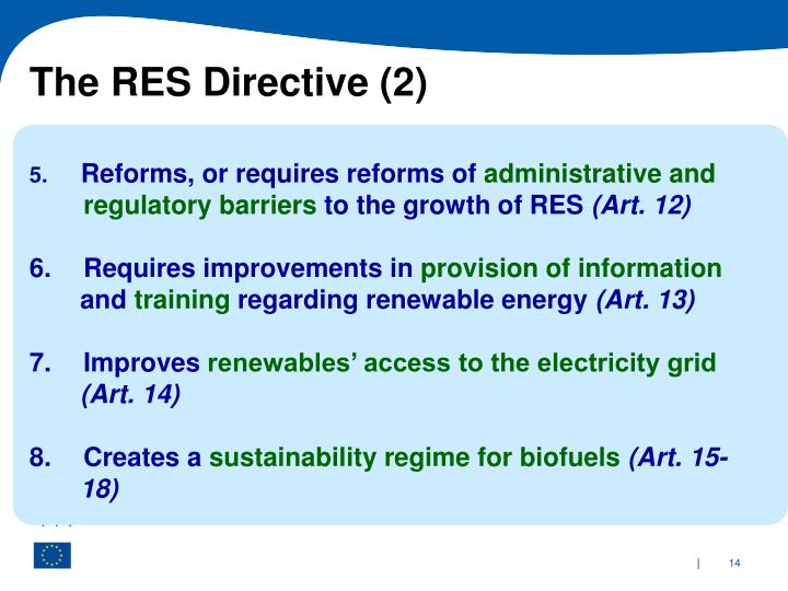 The RES Directive (2)