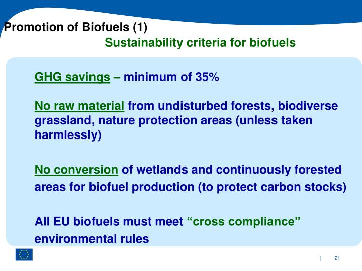 Promotion of Biofuels (1)
