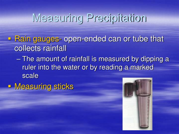 Measuring Precipitation