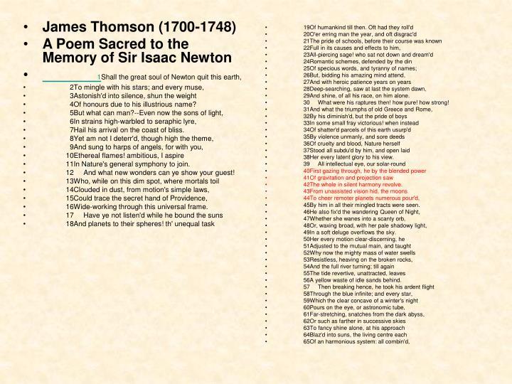 James Thomson (1700-1748)