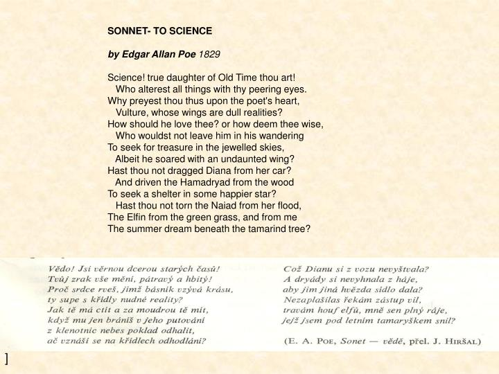 SONNET- TO SCIENCE