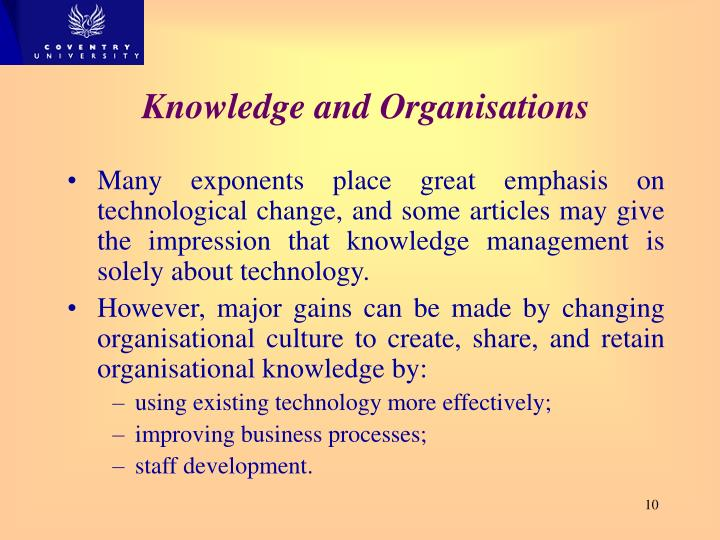 Impression on Knowledge of Technology