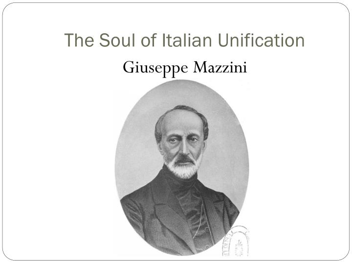 The Soul of Italian Unification