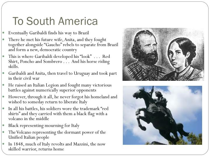 To South America