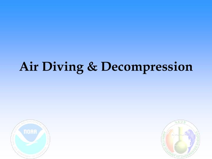 air diving decompression n.