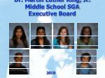 dr martin luther king jr middle school sga executive board