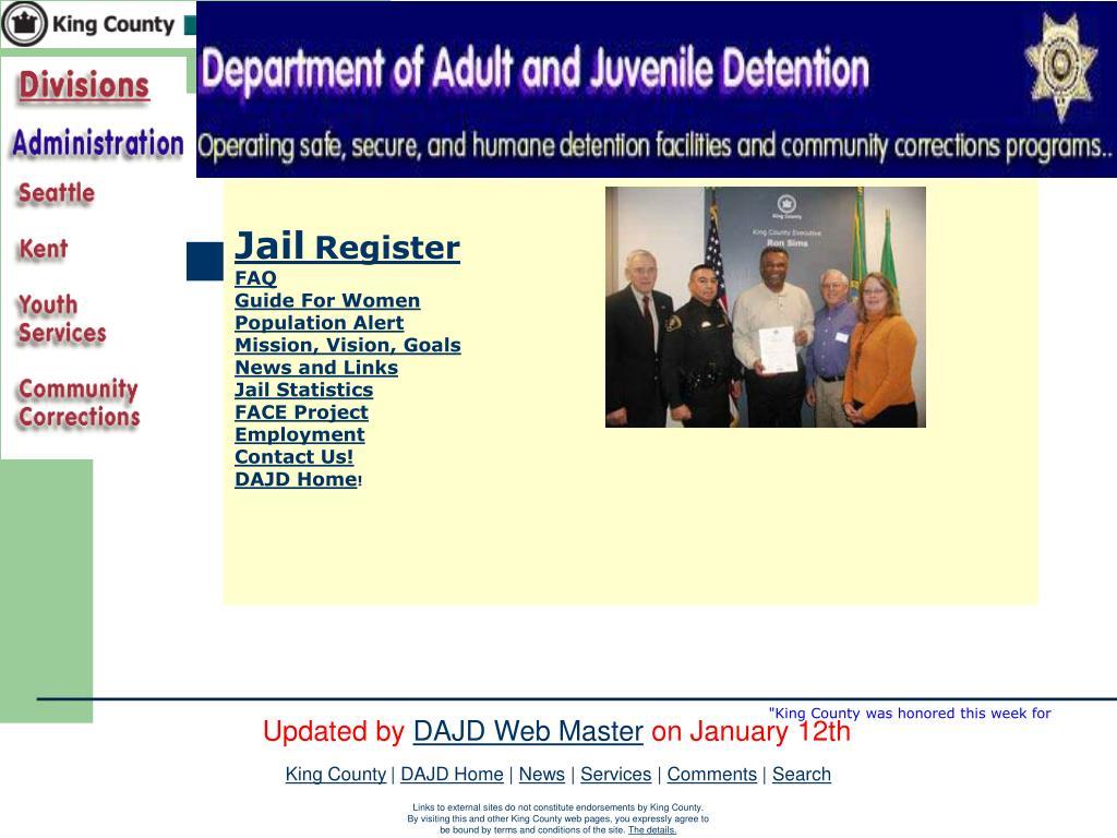 PPT - Washington State – Juvenile Detention National STD