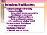 exclusions modifications1