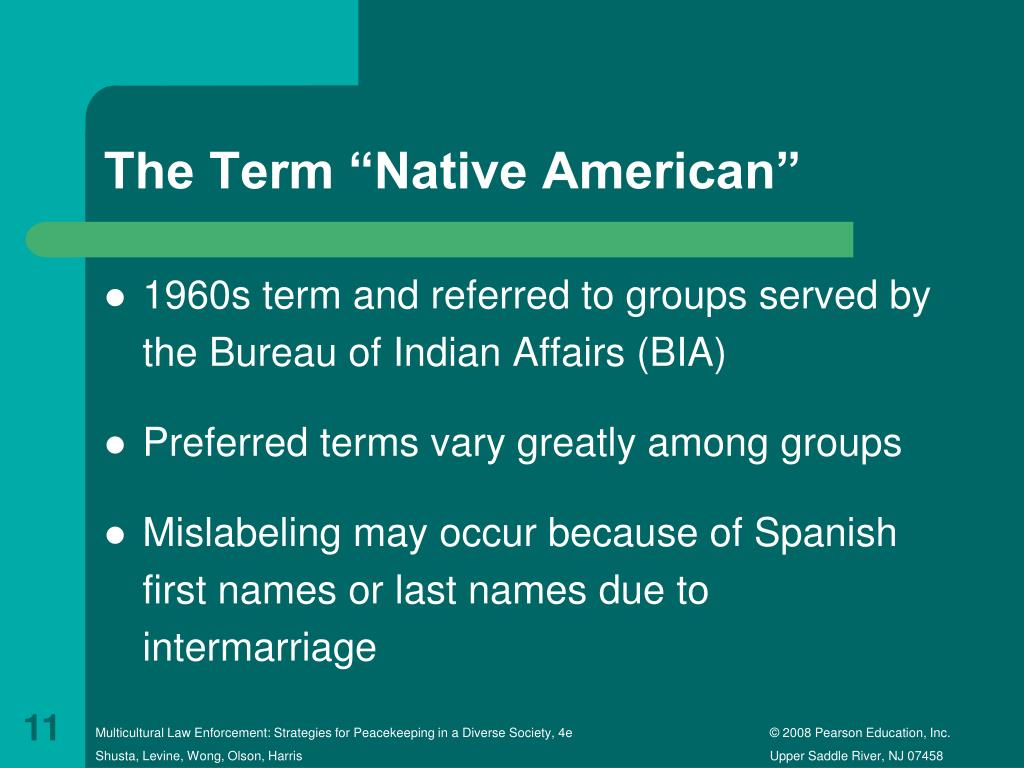 PPT - Law Enforcement Contact With Native Americans