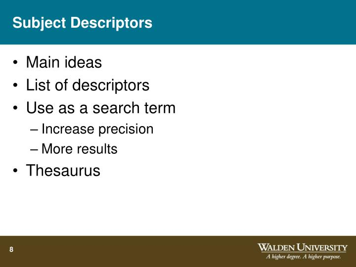 Subject Descriptors