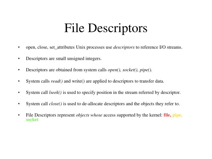 File Descriptors