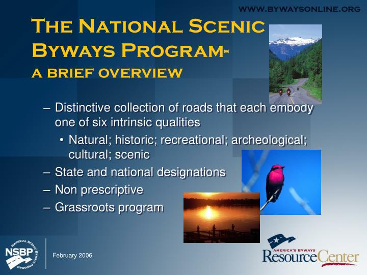 The national scenic byways program a brief overview