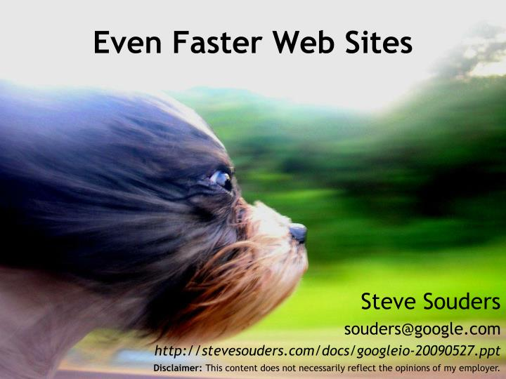even faster web sites n.