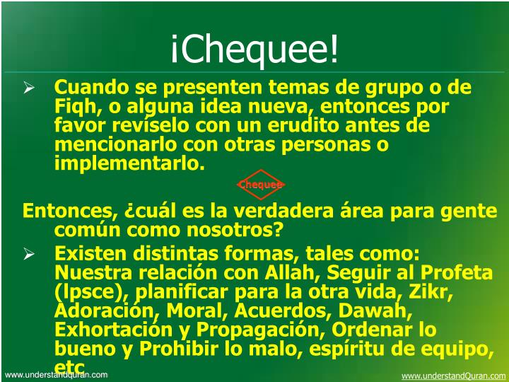 Chequee