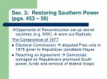 sec 3 restoring southern power pgs 453 56
