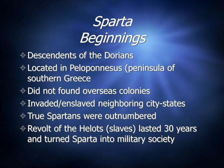 Sparta beginnings